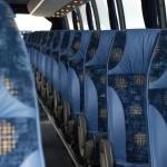 Komfortable sæder i turistbussen