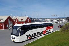 Leje af turistbus i Jylland