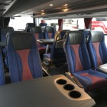 Dobbeltdækker bus i Østjylland